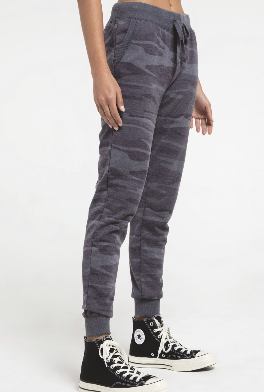 Z Supply Camo Joggers - DARK BLUE