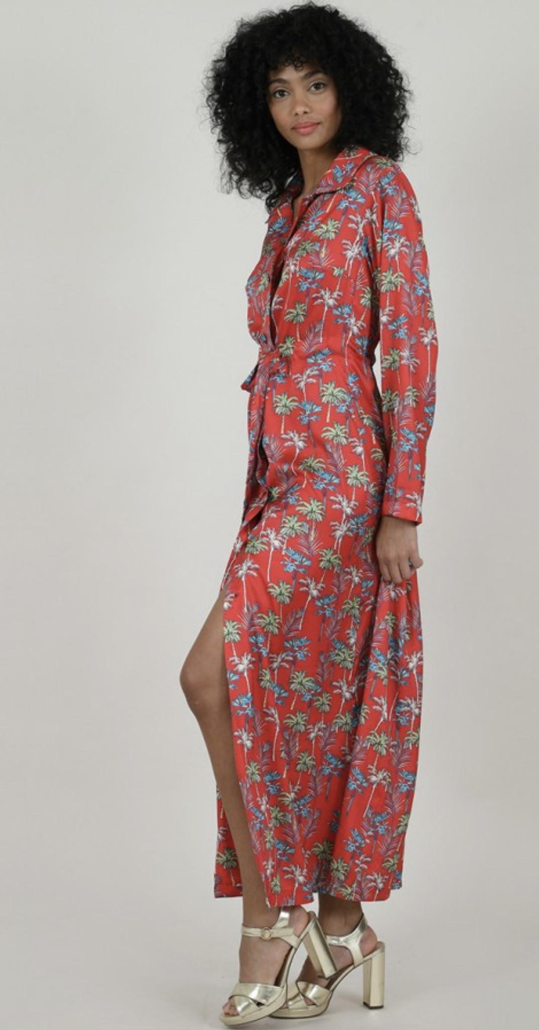 Molly Bracken Chloe Palm Dress