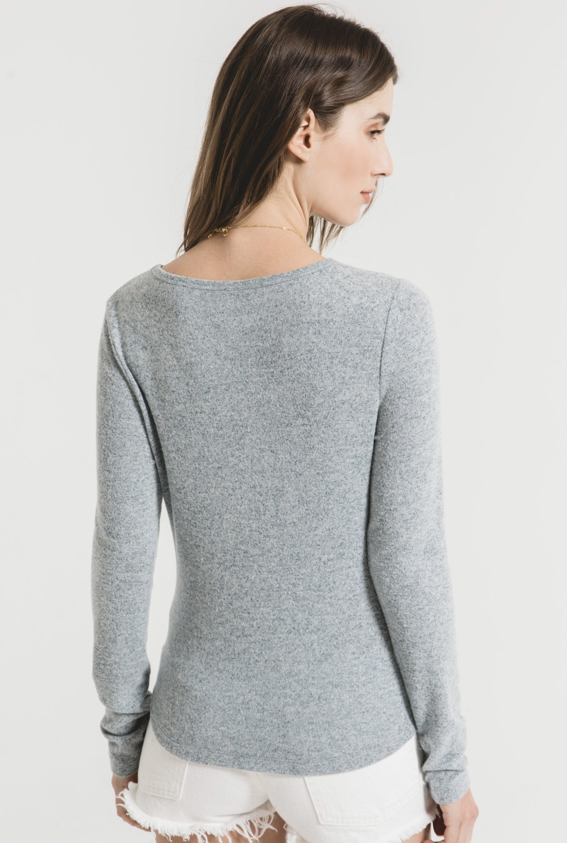 Z Supply Marled Fitted Top - Storm