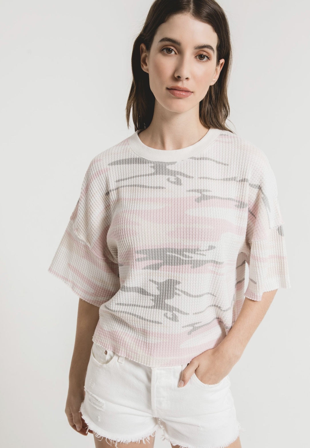 Z Supply Rosewater Camo Thermal Tee