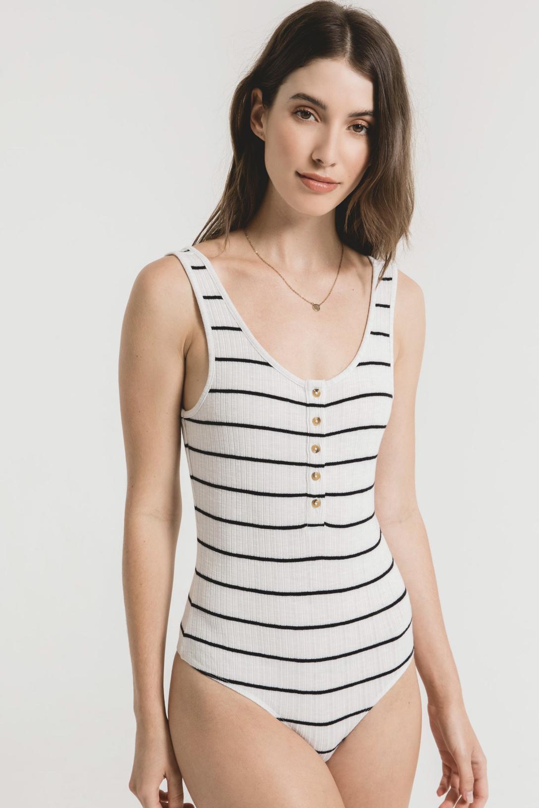 Z Supply Seri Stripe Rib Bodysuit