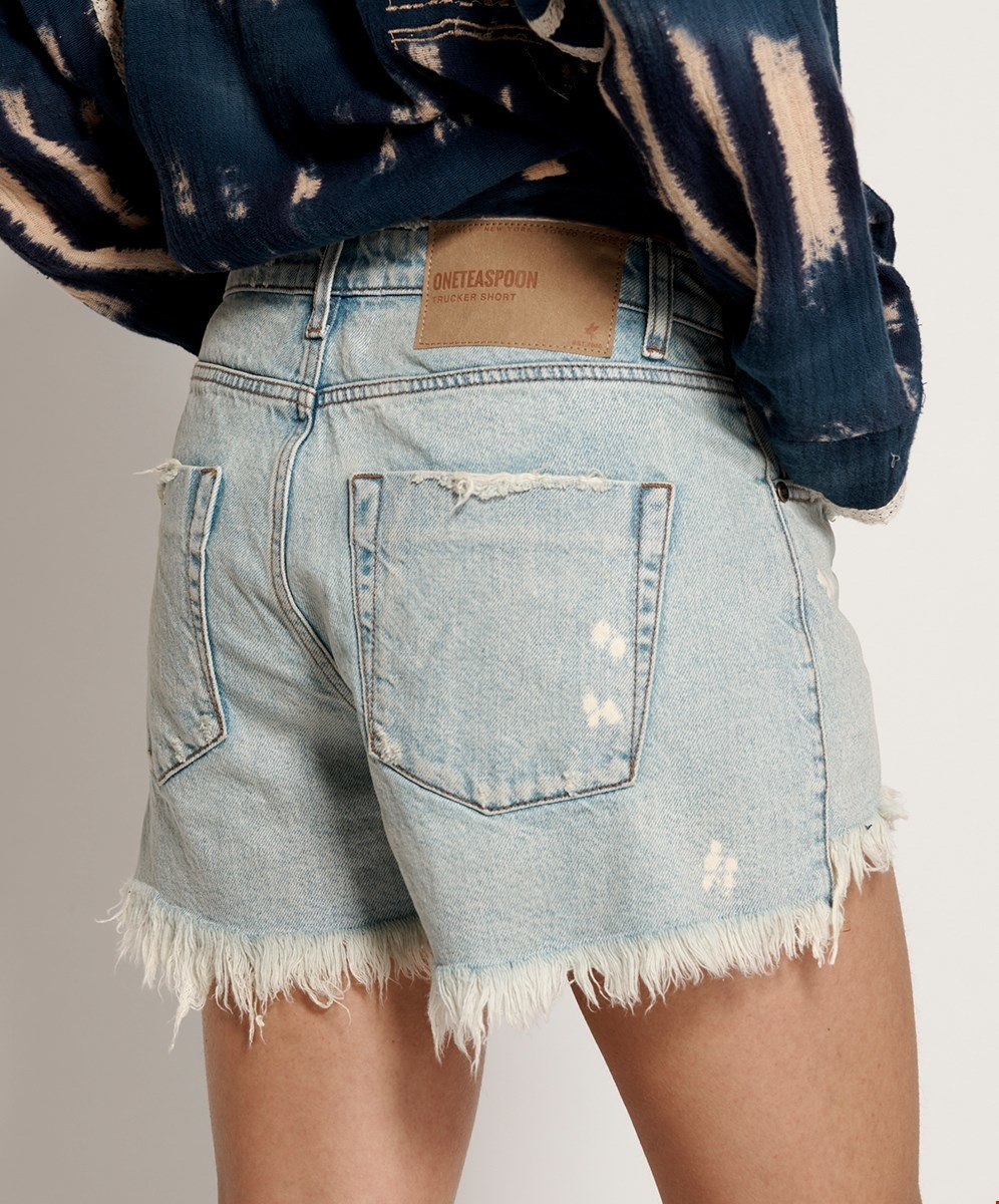 One Teaspoon Trucker Relaxed Shorts