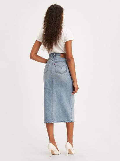 Levi's Levi's Button Front Midi Skirt