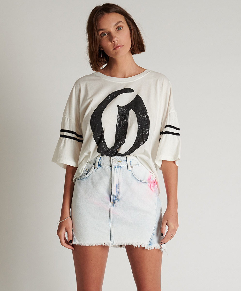One Teaspoon 20/20 Highwaist Denim Skirt