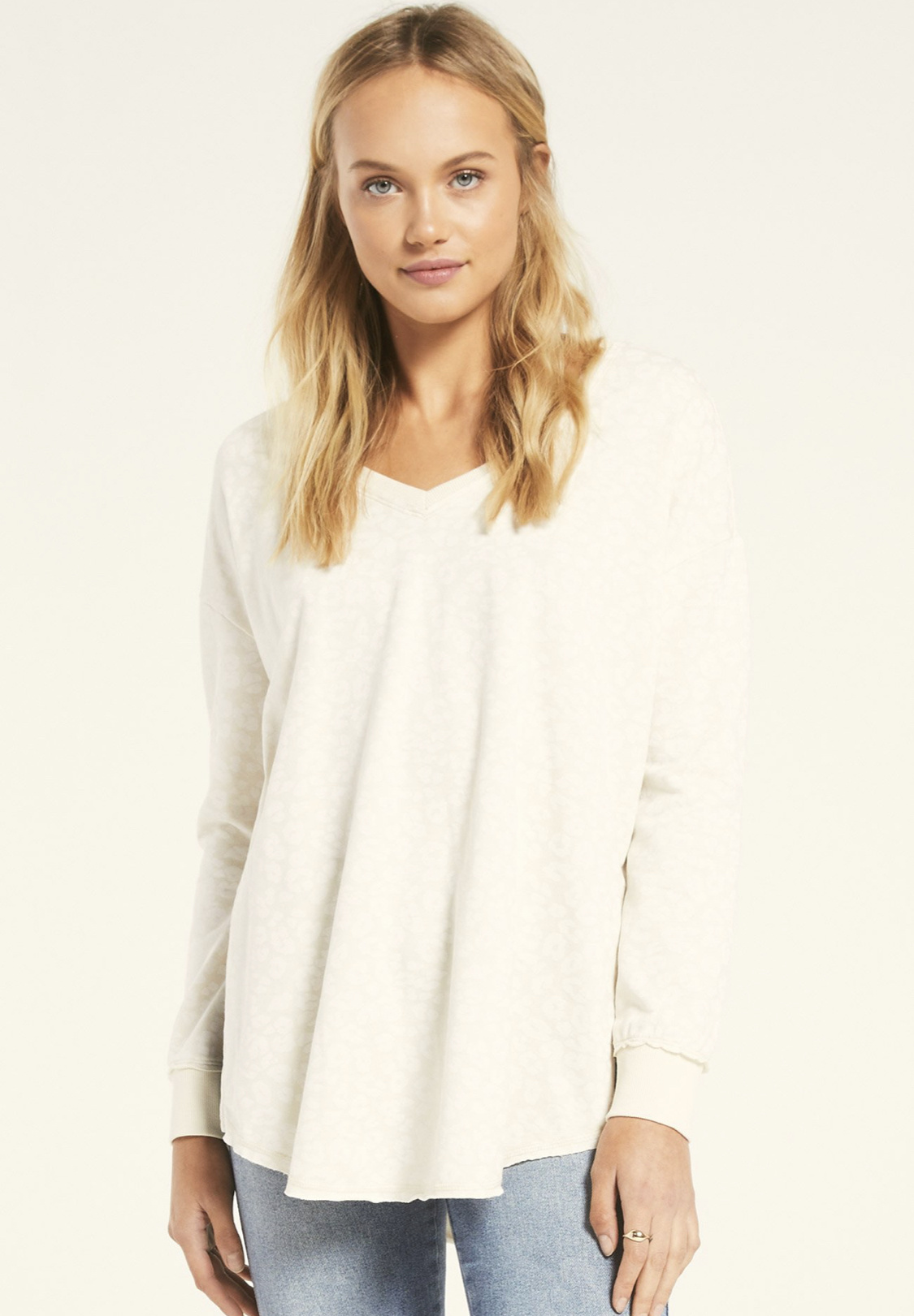 Z Supply Leo V Neck Weekender Ivory