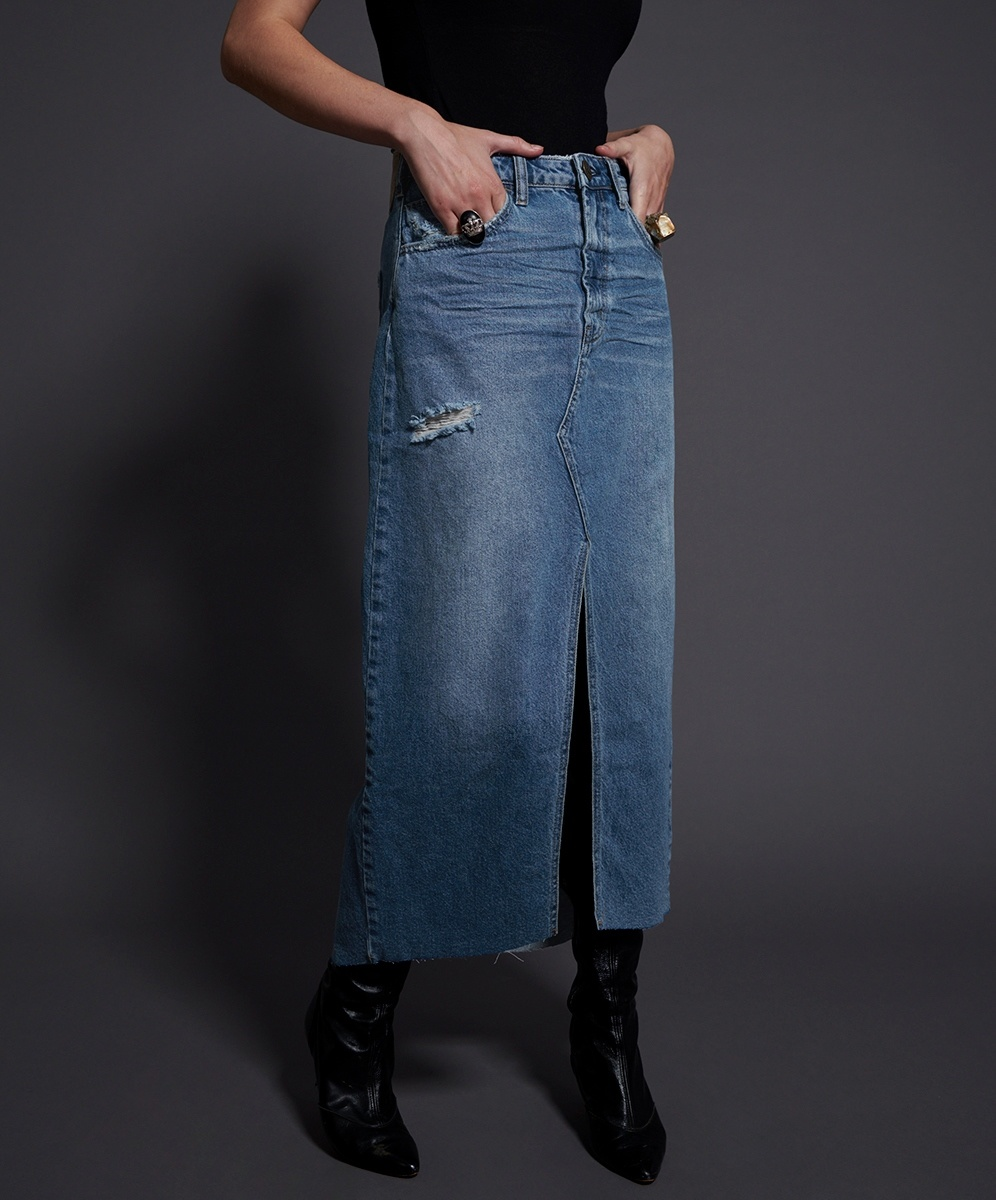 One Teaspoon Rocko Long Length Skirt