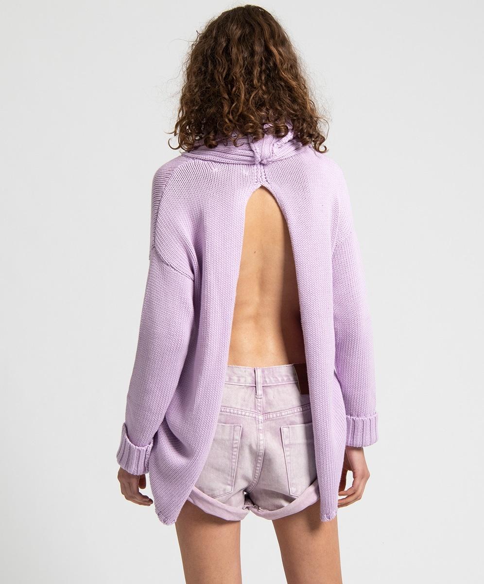 One Teaspoon Pure Open Back Sweater - Moonstone