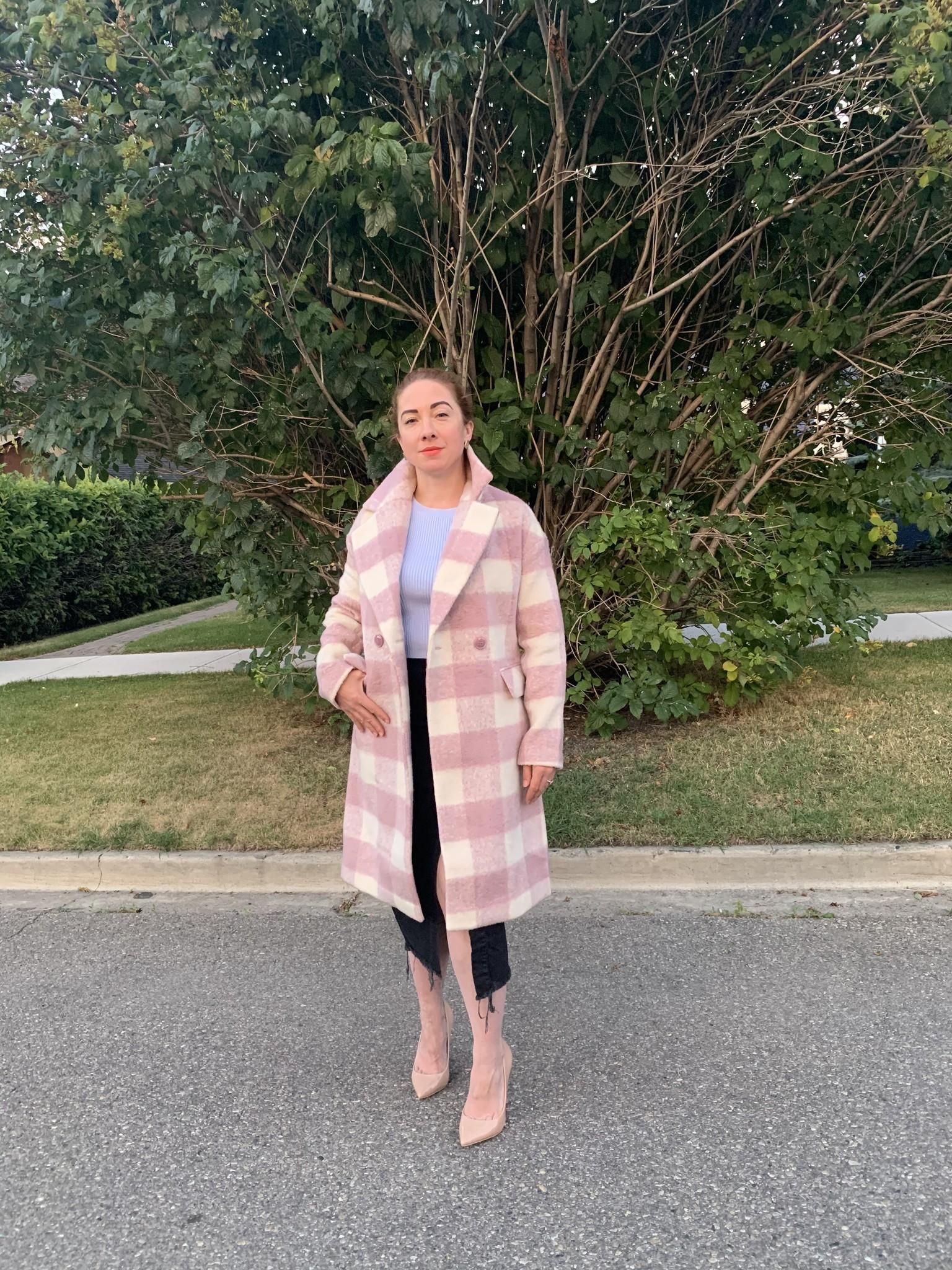 Jacqueline Plaid Coat