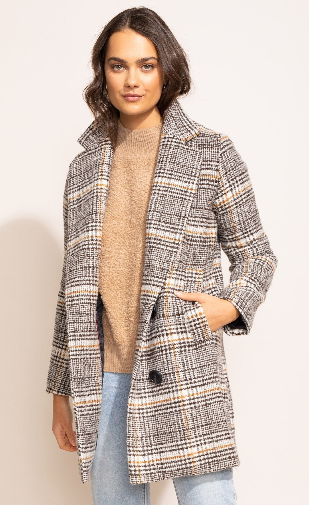 Pink Martini Siena Coat - Brown