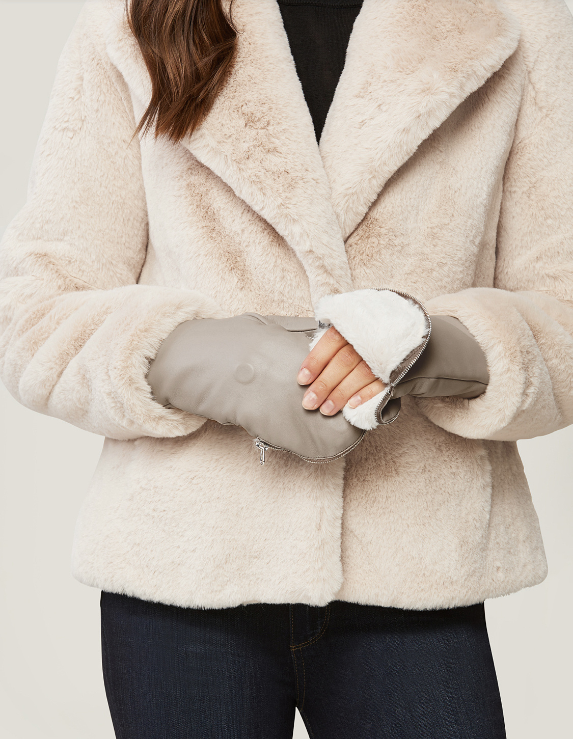 Soia & Kyo Betrice Leather Mitts - Fawn
