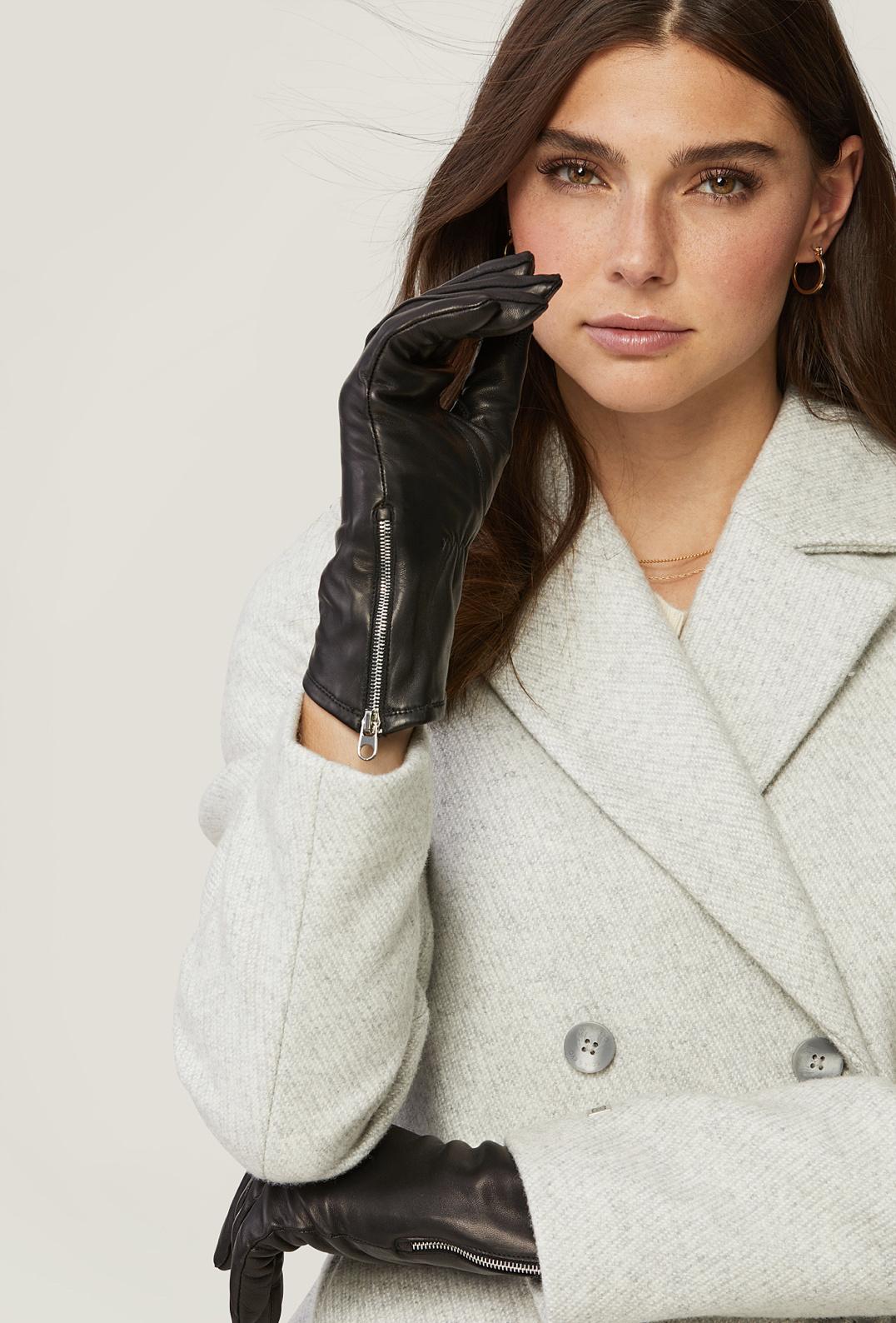 Soia & Kyo Meena Leather Gloves - Black