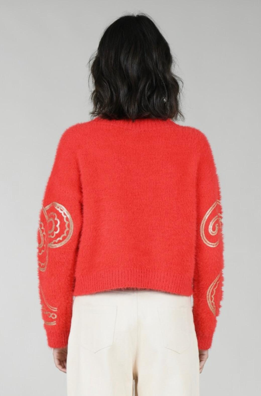 Molly Bracken Paisley Sequin Sweater