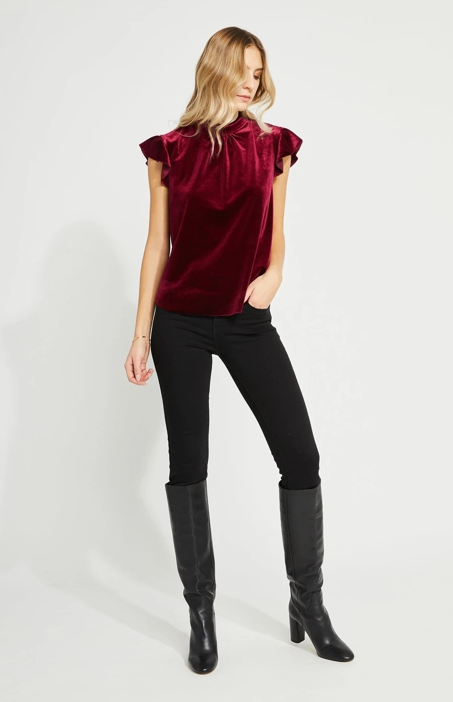 Lily Top - Raspberry