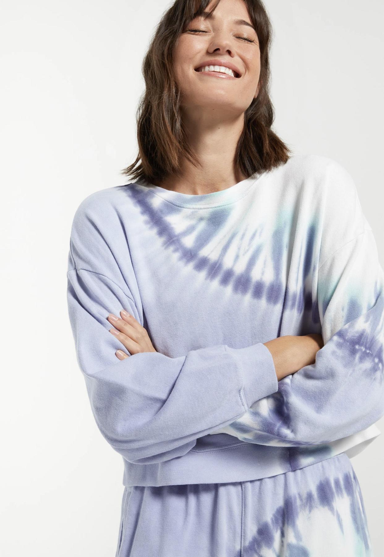 Z Supply Sunburst Tie Dye Set - Ice Blue