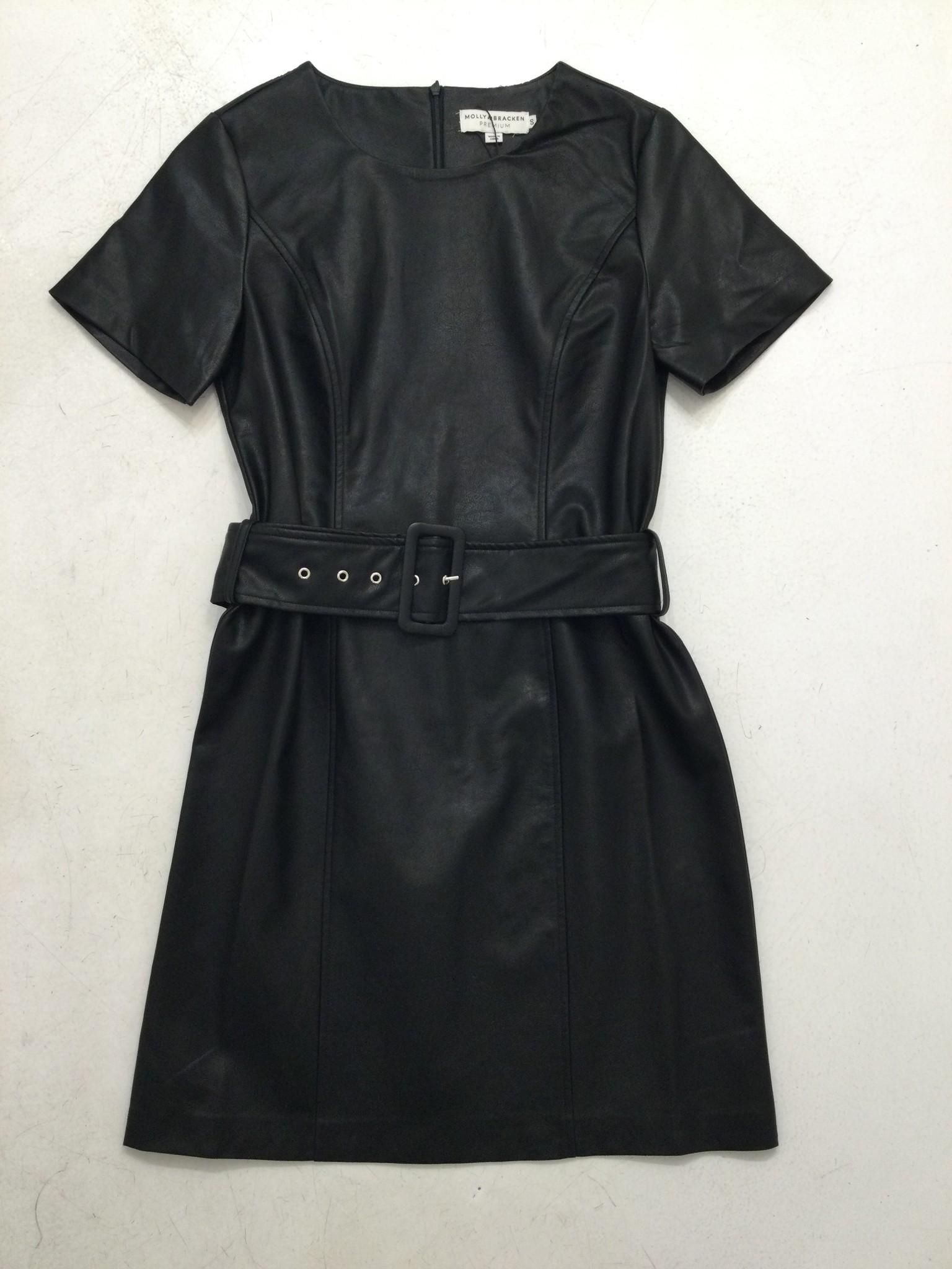 Molly Bracken Faux Leather Dress