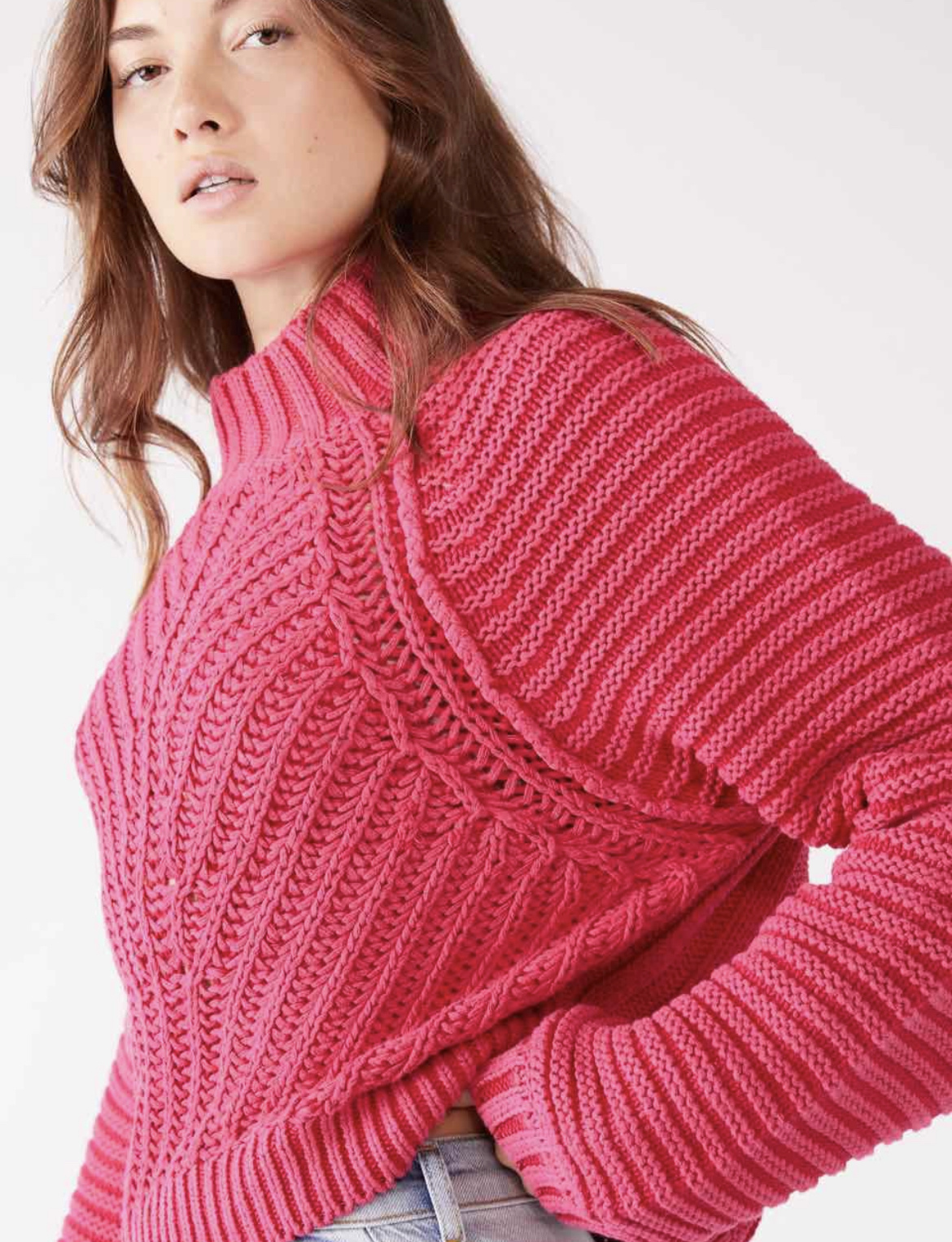Free People Sweetheart Sweater - Candy Pink