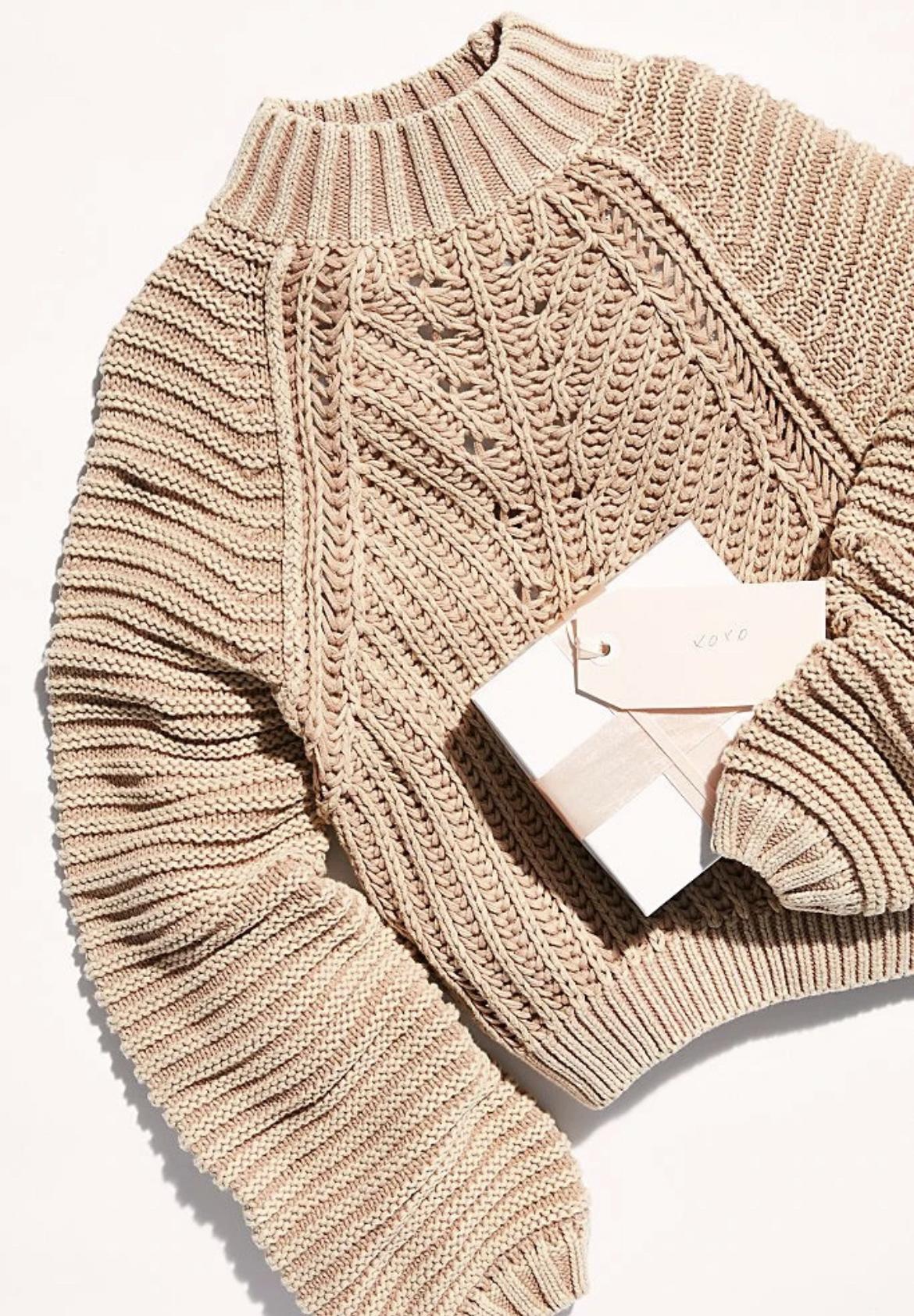 Free People Sweetheart Sweater - Sandcastle