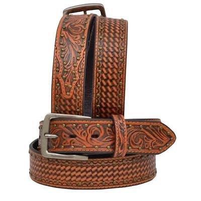 3D Belt 7411 Basketweave Tooled