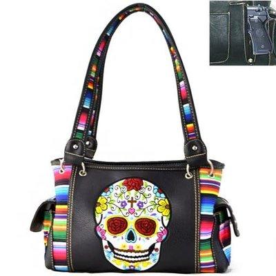 Sugar Skull Serape Conceal/Carry Handbag