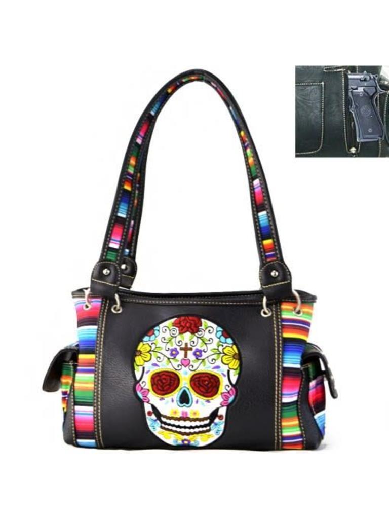 f35967ba8a Sugar skull serape conceal carry handbag diamond royal tack jpg 768x1024  Embroidered concealed carry serape handbag
