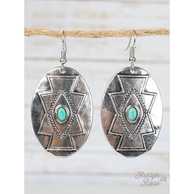 Navajo Silver Earrings with Turquoise