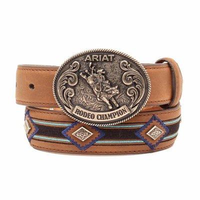 Ariat Youth Belt Blue Embr. Aztec A1305408