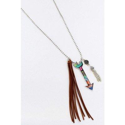 Southwest Arrow Tassel Necklace