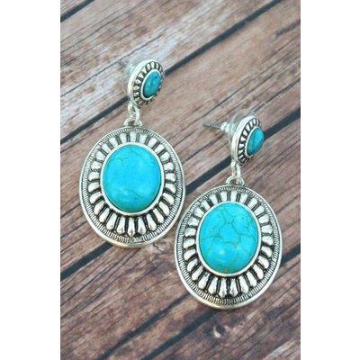 Turquoise Post Earrings