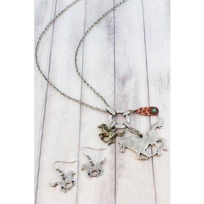 Horse Charm Jewelry Set