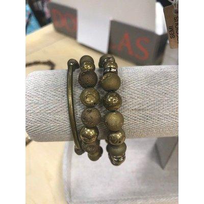 Beaded Art Stacking Bracelets