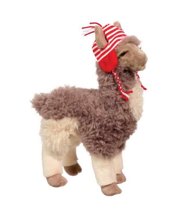 Douglas Douglas Zephyr Llama w/Holiday Hat