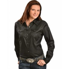 Wrangler Solid Black Wrangler Shirt Black Snap