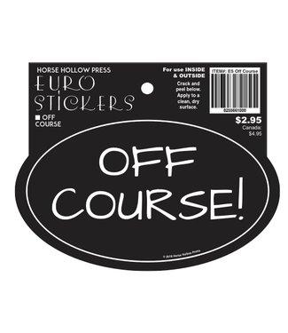 Horse Hollow Euro Sticker