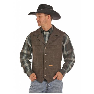 Panhandle Slim Men's Plaid Western Vest