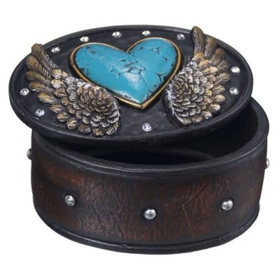Resin Western Trinket Box