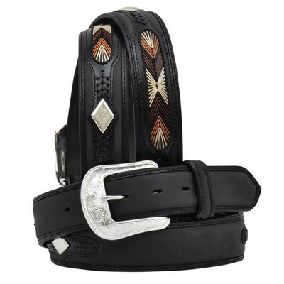 3D Black Men's Western Fashion Belt - 6820