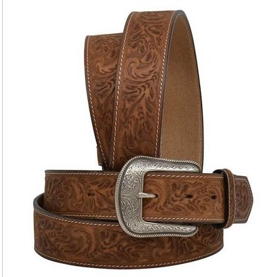 3D Brown Tooled Men's Western Fashion Belt - 8612