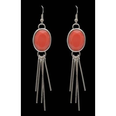 3D Silver Coral Earrings - E609SBCO