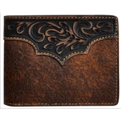 3D Brown Western Bifold Wallet - W374