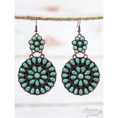 Turquoise Mandala Earrings