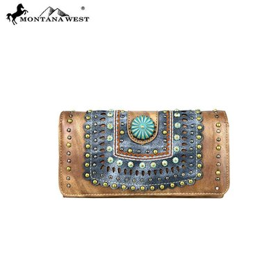 Montana West Concho Collection Wristlet/Wallet