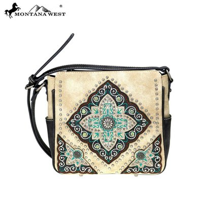 Montana West Embroidered Floral Diamond Crossbody