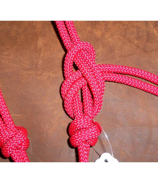 Hand Tied 4 Knot Rope Halter Average