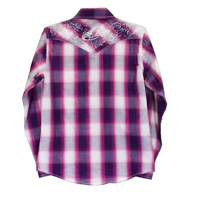 Cowboy Hardware Youth Magenta Hombre Plaid