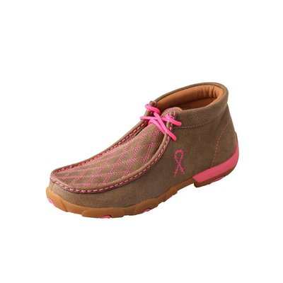 Twisted X Womens Driving Moc Pink Check WDM0037