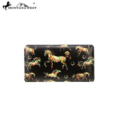 Montana West Horses Collection Wallet
