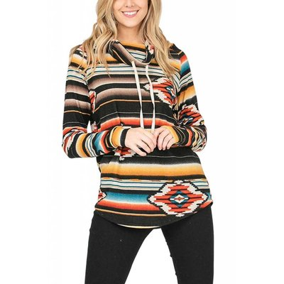 Aztec Cowl Neck Pull Over
