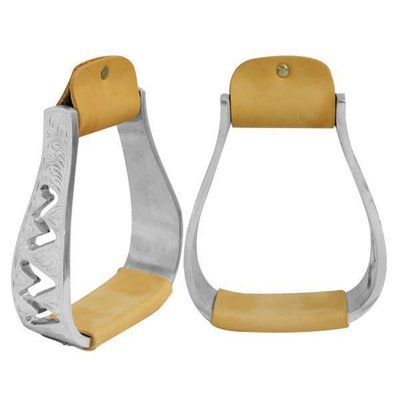 Showman Engraved Zigzag Stirrups