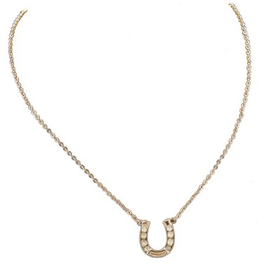 Crystal Horseshoe Necklace GP