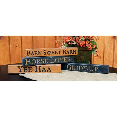 Horse Sayings Block Sign Assorted